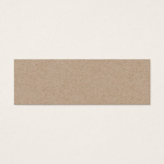 Brown Kraft Paper Background Printed Mini Business Card