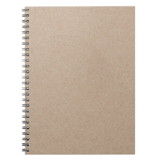 Brown Kraft Paper Background Printed Notebook