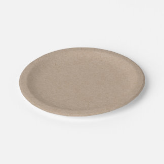 Brown Kraft Paper Background Printed Paper Plate