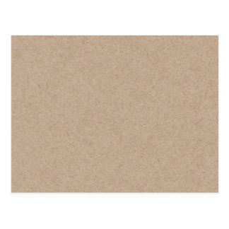 Brown Kraft Paper Background Printed Postcard