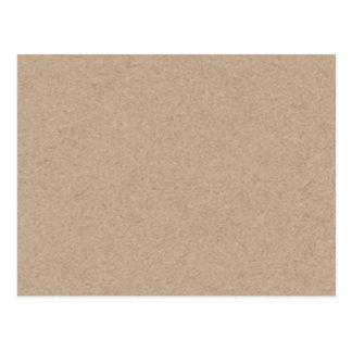 Brown Kraft Paper Background Printed Post Card