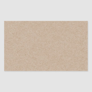 Brown Kraft Paper Background Printed Rectangular Sticker
