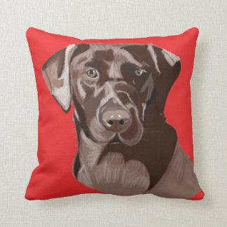 Brown Labrador Retriever Cushion