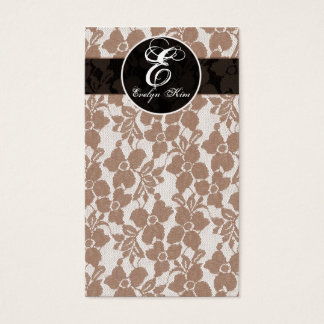 brown lace cutomize your monogram