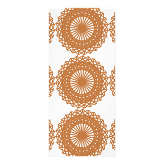 Brown Lace Pattern Design Personalized Rack Card