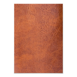 Brown leather card