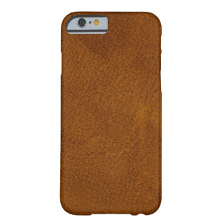 Brown leather barely there iPhone 6 case