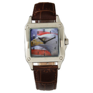 Brown leather Eagle Watch