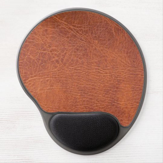 Brown leather gel mouse mat