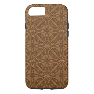 Brown leather Geometric Pattern iPhone 8/7 Case