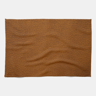 BROWN LEATHER HAND TOWEL
