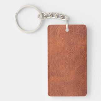 Brown leather key ring