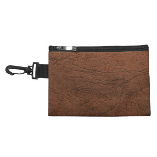 Brown Leather Look Accessories Bag