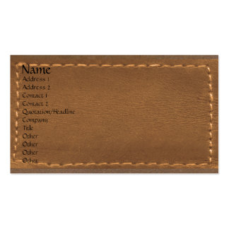 Brown Leather Look Designer Surface Pack Of Standard Business Cards