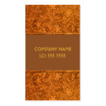Brown Leather Look Embossed Flowers-Template Business Card