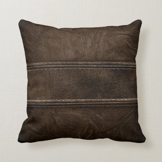 Brown Leather Modern Interior Style Pillow