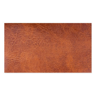 Brown leather pack of standard business cards