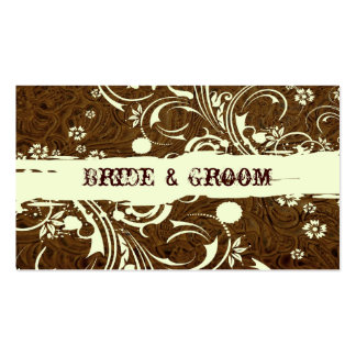 Brown Leather Place Cards Business Card