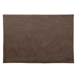 Brown Leather Print Texture Pattern Placemat