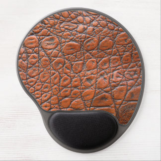 Brown leather skin texture gel mouse mat