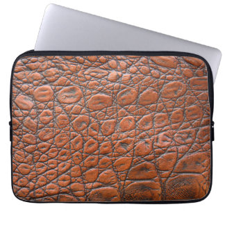 Brown leather skin texture computer sleeves