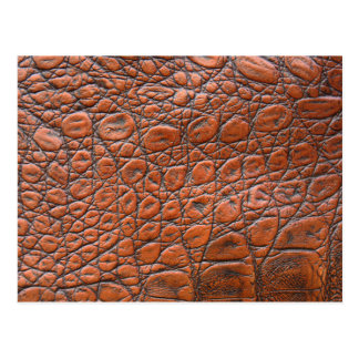 Brown leather skin texture postcard