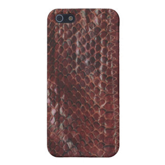 Brown Leather Snake Skin iPhone Case Case For iPhone 5/5S