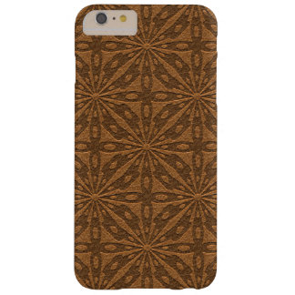 Brown Leather Texture Geometric Pattern Barely There iPhone 6 Plus Case