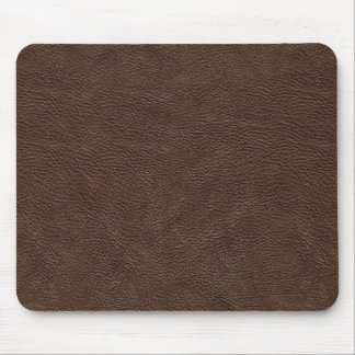 Brown leather texture mouse mat