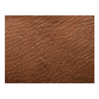 Brown leather texture postcard
