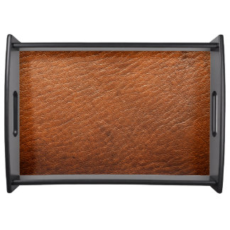 Brown Leather Texture Serving Tray