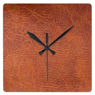 Brown leather wallclocks