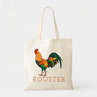 Brown Leghorn Rooster Tote Bag
