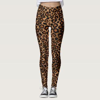 Brown Leopard Animal Skin Print Leggings