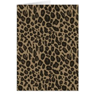 Brown Leopard Print Greeting Card