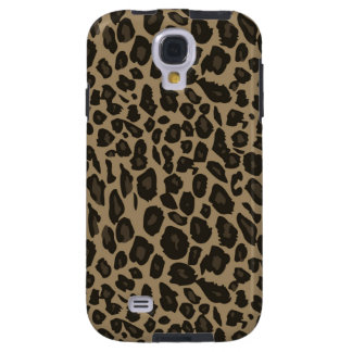 Brown Leopard Print chic cool Galaxy S4 Case