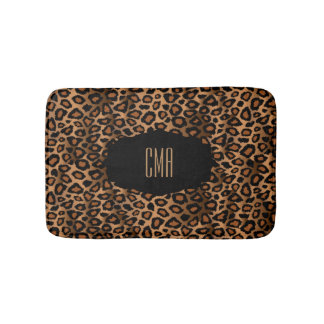 Brown Leopard Print | DIY Monogram Bath Mats