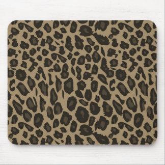 Brown Leopard Print Mousepad