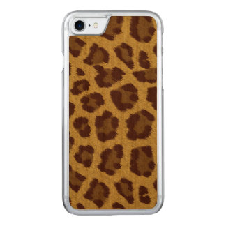 Brown Leopard Print Phone Carved iPhone 8/7 Case