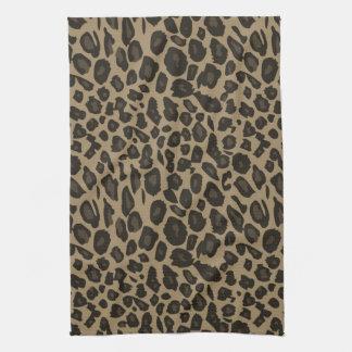 Brown Leopard Print Tea Towel