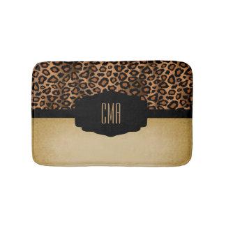Brown Leopard Vintage Print | DIY Monogram Bath Mats