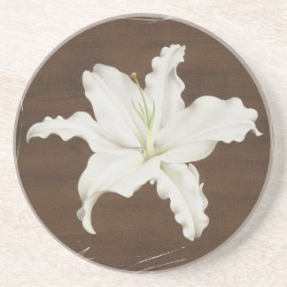 Brown Lily coaster