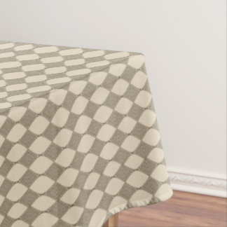 Brown Line art pattern Tablecloth