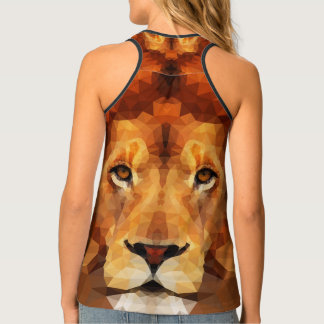 Brown Lion Head All Over Print Top