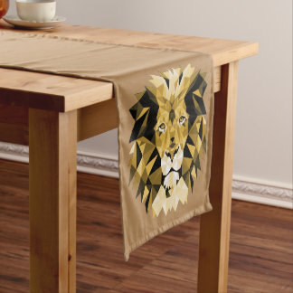 Brown Lion Long Table Runner