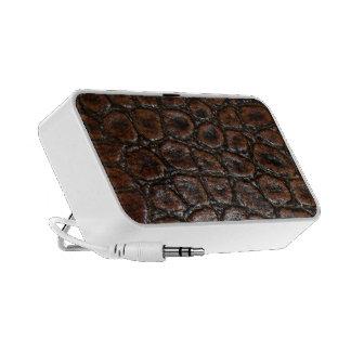 Brown Lizard Skin Speaker System