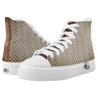 Brown Louis Vuitton style High Top