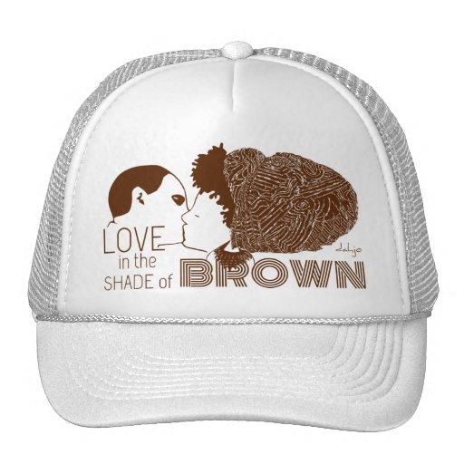 BROWN LOVE in BROWN Hat