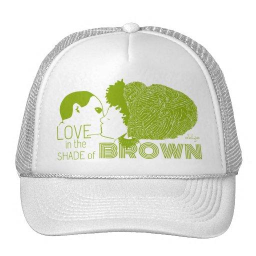 BROWN LOVE in GREEN Mesh Hats