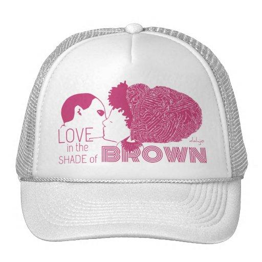 BROWN LOVE in PINK Trucker Hats